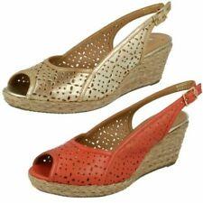 Ladies Van Dal Peep Toe Wedge Sandals Katherine