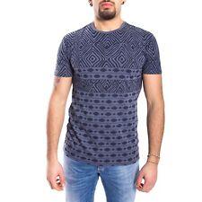ANTONY MORATO T-shirt con girocollo blu in fantasia MMKS00834 Tg S