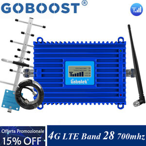 Band28 700MHZ Phone Signal Booster 65db 4G LTE Amplifier Repeater Antenna Kit