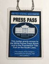 U.S. Trump White House Press Pass - ID Badge Neck Chain - Novelty Funny