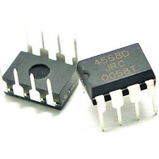 NJM4558D Low Noise Dual Op-Amp IC - 8 pin DIL - Pack of 2