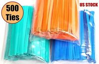 NiftyPlaza 500 Twist Ties 4 Inch Length Plastic Coated No Rip Paper Ties Cello