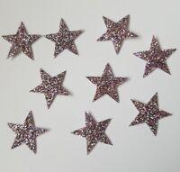 Hotfix iron on transfers 50 medium rainbow glitter stars