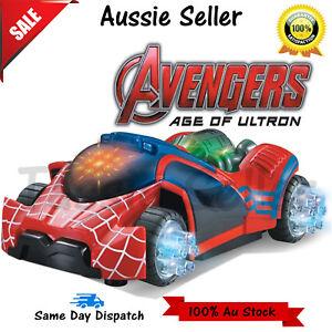 Avengers 3D Unique Light Toys Music Sound Electric Toy Cars Kids Children Xmas