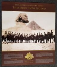 THE AUSTRALIAN LIGHT HORSE-THEY RODE INTO LEGEND NUMBERED LIMITED EDITION POSTER
