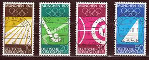 Bund Michel 587-590 - Zentrierter Vollstempel - Ortsstempel - ansehen! - 6612