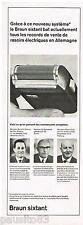 PUBLICITE ADVERTISING 105  1965  BRAUN SIXTANT    le rasoir éléctrique