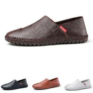 Mens Driving Moccasins Shoes Pumps Slip on Loafers Flats Soft Comfy Walking 50 L