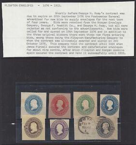 Collection of Plimpton Cut Squares 1874-1903