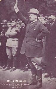 "BENITO MUSSOLINI "" premier of italy "" SALUTES FASCISTS 1930s arcade/exhibit card"