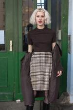 Damen Kleid Wollkleid Mischgewebe 60er True VINTAGE 60s woman dress pepita