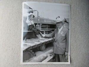 "IH International Harvester President McCaffrey & 4 yr old on  TD-24 PHOTO  8x10"""