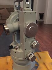 VINTAGE CARL ZEISS TH2 THEODOLITE OPTICAL TRANSIT SURVEY SCOPE w/CARRYING CASE
