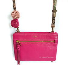 MIMCO Imagineer M Pouch Cerise Leather and Gold Tone Hardware with dustbag