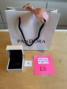 Pandora Charm, Ring Or Earrings Box And Gift Bag