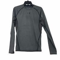 Under Armour Mens Medium Compression Heatgear Long Sleeve Gray Shirt