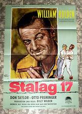 Stalag 17 * william holden * a1-AFFICHE CINEMA EA-German 1-sheet'60 Billy wilder