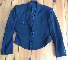 """Vintage gamme de couleur Japan Wool Blend Black Military Style Blazer Coat 36"""""""