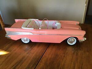 BARBIE MATTEL 1988 PINK 1957 CHEVY BEL AIR CONVERTIBLE CAR