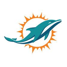 "Miami Dolphins Decal Indoor - Outdoor - Car-  Truck - Window 3.9"" x 4.9"""