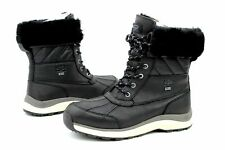 NIB UGG Women's Adirondack III Leather Quilted Winter Waterproof Boots Black
