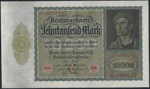 Germany, 10 000 Mark, 19.1.1922, P-70