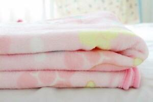 Kawaii Pink Flannel Blanket Throw Soft Bedding My Melody Pattern Plush Rug