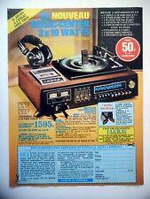 PUBLICITE-ADVERTISING :  MUSIC CENTER Stereo  1977 Ampli,Tuner,Platine…