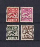 DANZIG GERMANY 1924, Sc#C26-C29, CV $30, Air Mail, MH