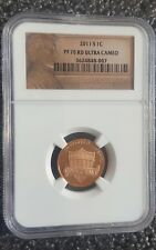 2011-S Proof 1c Lincoln Union Shield NGC PF70 RD ULTRA CAMEO  RED