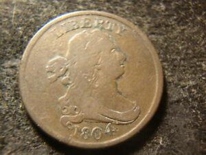 1804 F VF  Draped Bust Half Cent MSX