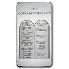 10 oz Silver Bar - Ten Commandments - SKU #59089