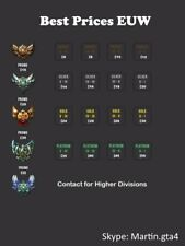 Best Prices EUW! League of Legends ELO Boosting Solo/FlexQ (LoL)