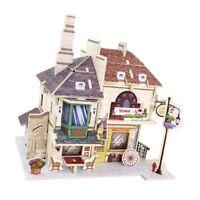 1:24 DIY Mini Dollhouse Furniture Kit 3D Model Tea House Christmas Gifts
