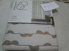 NEW Project 62 Fabric Shower Curtain 72x72 GRAY BROWN BUBBLE STRIPE New