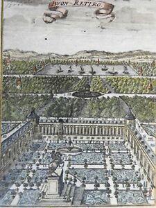 Buen Retiro Spanish Royal Palace Madrid Gardens Statues 1719 Mallet print