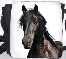 FRIESE Pferd - Schwarze SCHULTERTASCHE Tasche Umhängetasche Bag 32 - FRI 04