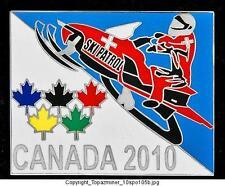 LAPEL PIN 2010 VANCOUVER CANADA SKI PATROL SNOWMOBILE S
