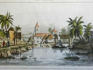 Balungao Luzon Island Philippines 1839 lovely early rare small city view