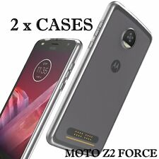 2 x Pieces - Transparent Clear TPU Rubber Case Cover for MOTOROLA MOTO Z2 FORCE