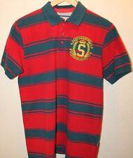Santa Barbara Polo & Racquet Club Since 1910 USA Stripe Red T-Shirt Men Medium