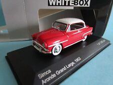 WHITE BOX  SIMCA ARONDE GRAND LARGE 1953 ROUGE TOIT BLANC 1/43 MIB