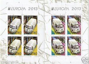 BULGARIA 2013 EUROPA POSTAL TRANSPORTATION TRUCKS VAN LETTER BOOKLET