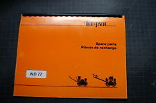 DUO PACT WD77 Plate Roller Compactor Parts Manual book catalog list shop spare