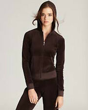 JUICY COUTURE~CHESTNUT BROWN VELOUR HOODIE JACKET~XS NWT AUTH