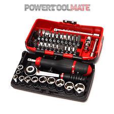 """Facom R 2 Nano 38 piezas 1/4"""" Drive 5.5-14mm métricas Socket y conjunto de bits"""