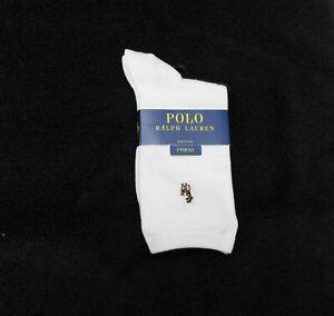 F232 Ralph Lauren Ivory Women's Solid Flat Knit Trouser Socks