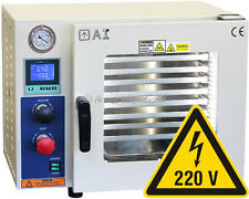 Ai 5 Sided 0.9 CF 220V Vacuum Oven w/ SSt Tubing Oil-Fill Gauge 2-Yr Warranty