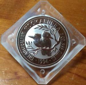 1994 $2 KOOKABURRA 2 oz SILVER BULLION COIN in ORIGINAL SQUARE CASE.