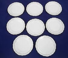 "BAVARIA CHINA, 8 BREAD & BUTTER  PLATES, 7-1/2"", WHITE , SCALLOPED RIM"